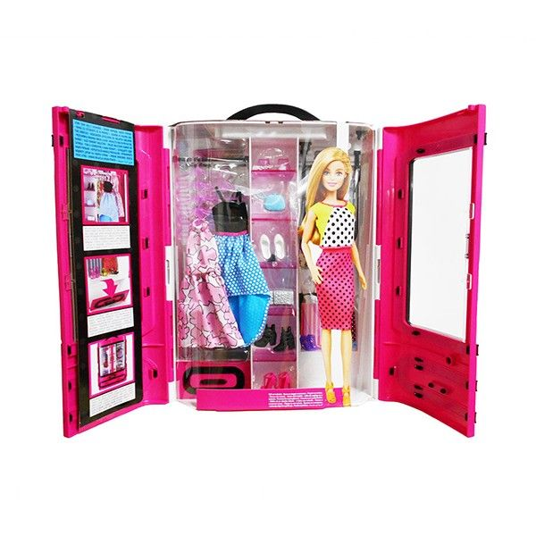 набор шкаф чемодан Barbie Dmt57 Barbie Uacom